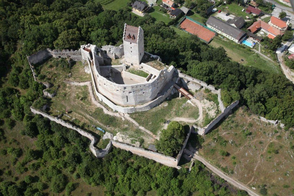 Topolcany Castle - Slovakia - Aerial